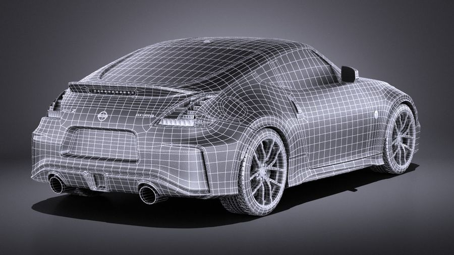 Nissan 370z Nismo 2017 VRAY royalty-free 3d model - Preview no. 16