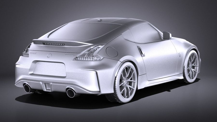 Nissan 370z Nismo 2017 VRAY royalty-free 3d model - Preview no. 12