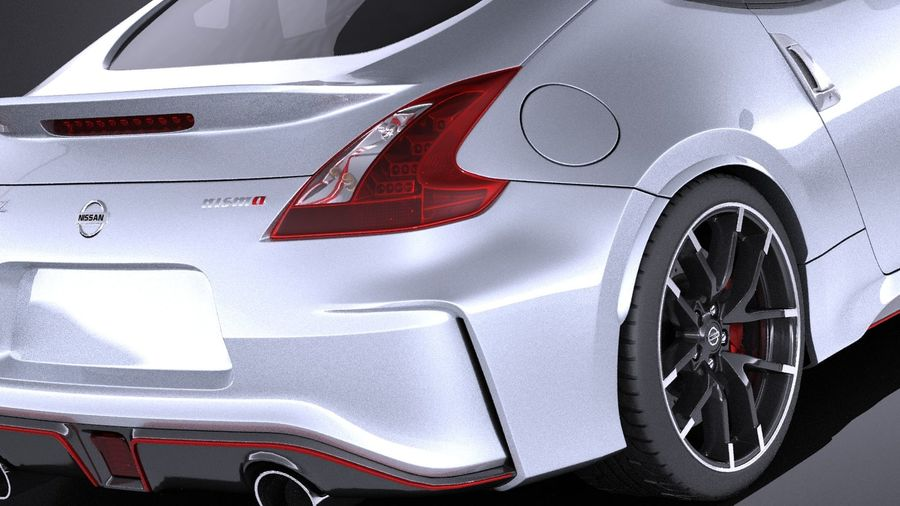 Nissan 370z Nismo 2017 VRAY royalty-free 3d model - Preview no. 4