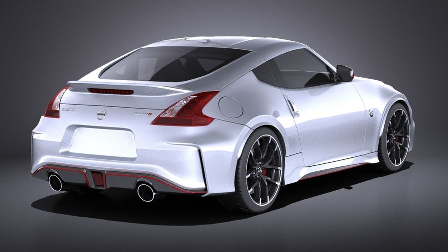 Nissan 370z Nismo 2017 VRAY royalty-free 3d model - Preview no. 6