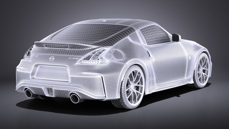 Nissan 370z Nismo 2017 VRAY royalty-free 3d model - Preview no. 14