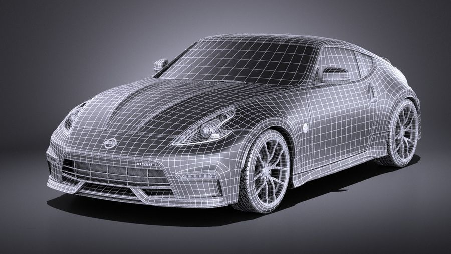 Nissan 370z Nismo 2017 VRAY royalty-free 3d model - Preview no. 15