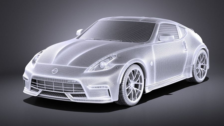 Nissan 370z Nismo 2017 VRAY royalty-free 3d model - Preview no. 13