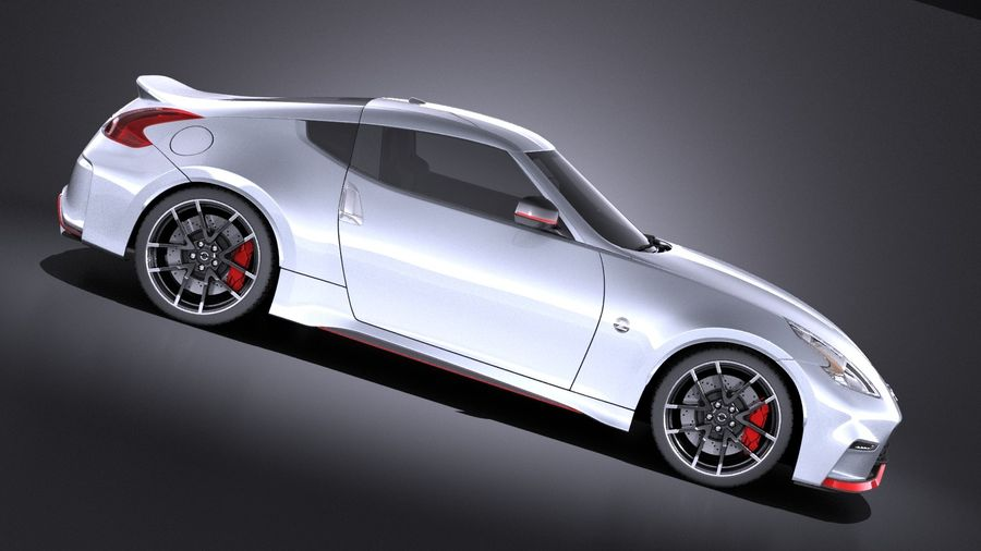 Nissan 370z Nismo 2017 VRAY royalty-free 3d model - Preview no. 7