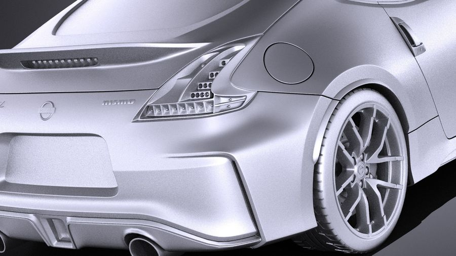 Nissan 370z Nismo 2017 VRAY royalty-free 3d model - Preview no. 11