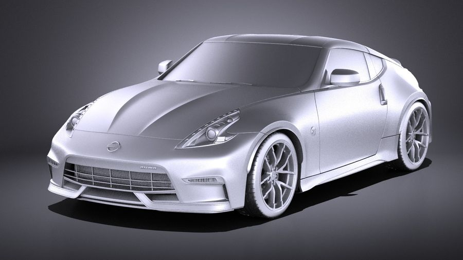 Nissan 370z Nismo 2017 VRAY royalty-free 3d model - Preview no. 9