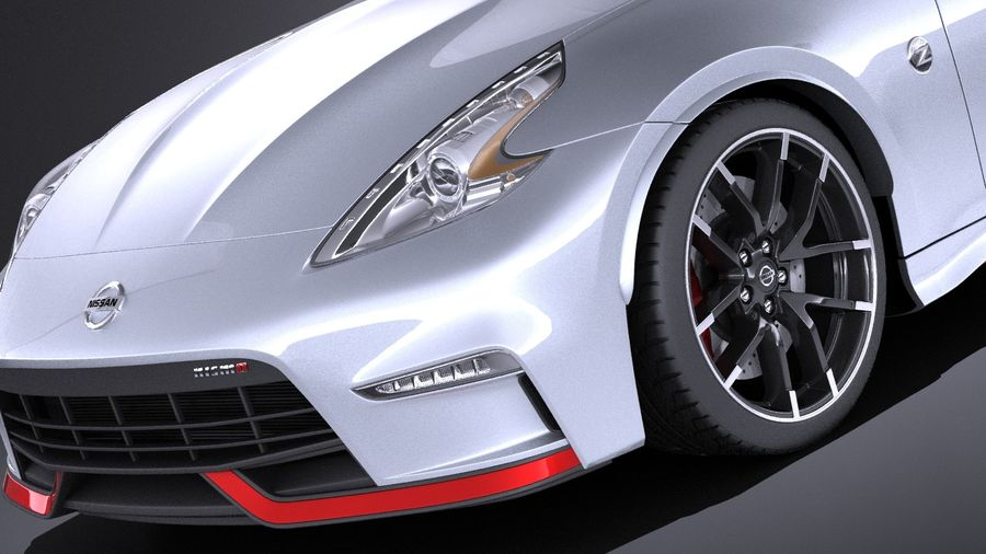 Nissan 370z Nismo 2017 VRAY royalty-free 3d model - Preview no. 3