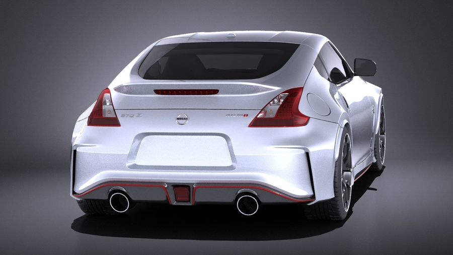 Nissan 370z Nismo 2017 VRAY royalty-free 3d model - Preview no. 5