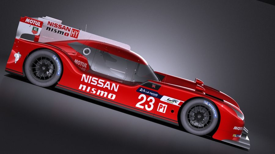 Nissan GT-R LM Nismo Race car 2016 VRAY royalty-free 3d model - Preview no. 7