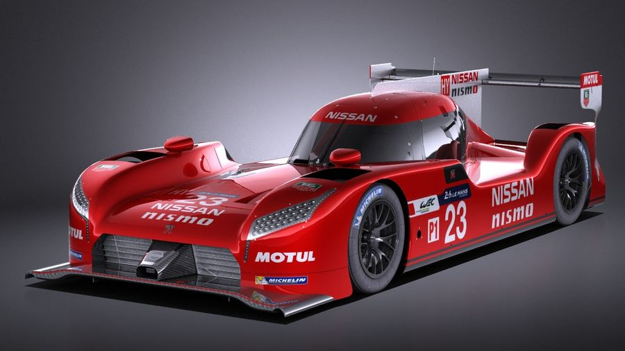 Nissan GT-R LM Nismo Race car 2016 VRAY royalty-free 3d model - Preview no. 1