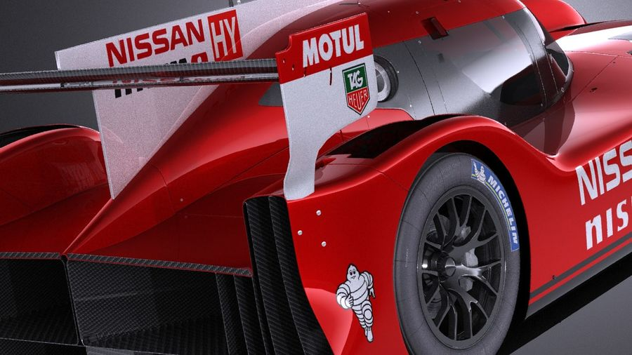 Nissan GT-R LM Nismo Race car 2016 VRAY royalty-free 3d model - Preview no. 4