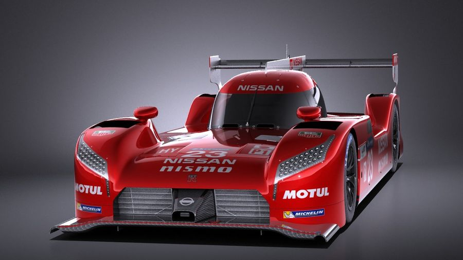 Nissan GT-R LM Nismo Race car 2016 VRAY royalty-free 3d model - Preview no. 2