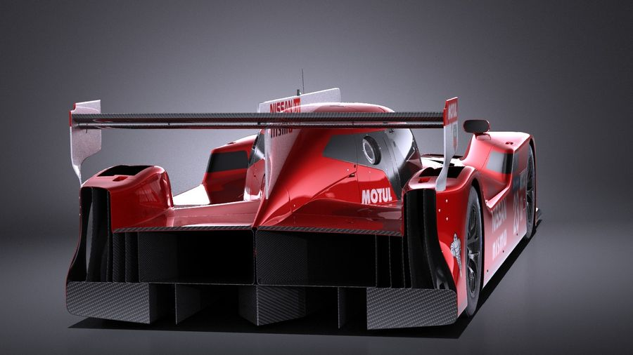 Nissan GT-R LM Nismo Race car 2016 VRAY royalty-free 3d model - Preview no. 5