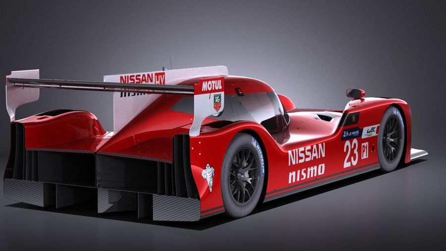 Nissan GT-R LM Nismo Race car 2016 VRAY royalty-free 3d model - Preview no. 6
