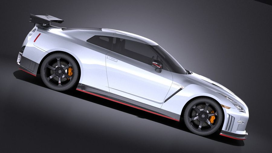 Nissan GT-R Nismo 2015 VRAY royalty-free 3d model - Preview no. 7
