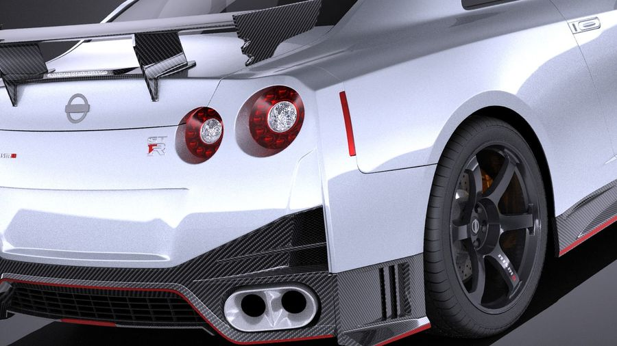 Nissan GT-R Nismo 2015 VRAY royalty-free 3d model - Preview no. 4