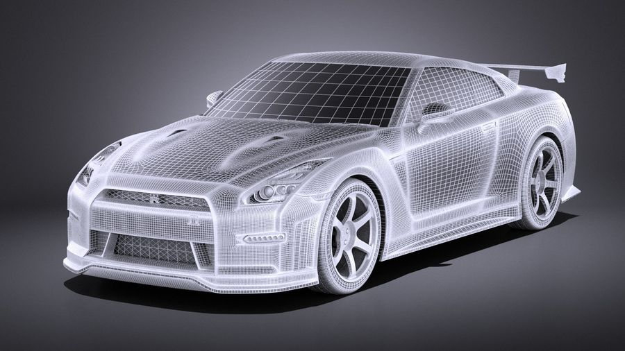 Nissan GT-R Nismo 2015 VRAY royalty-free 3d model - Preview no. 16