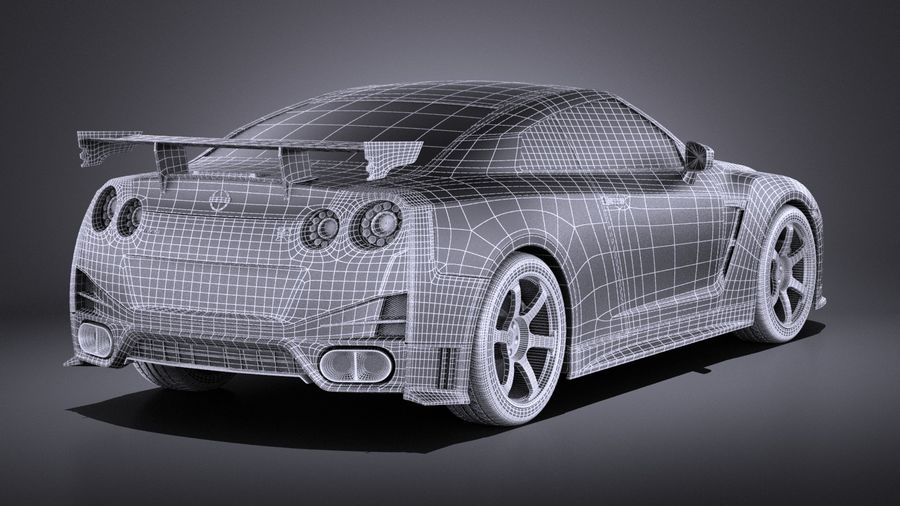 Nissan GT-R Nismo 2015 VRAY royalty-free 3d model - Preview no. 19