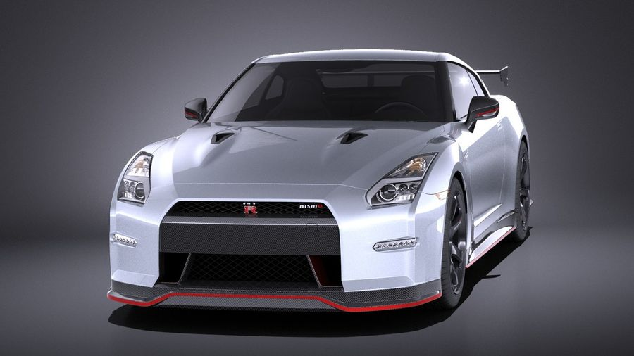 Nissan GT-R Nismo 2015 VRAY royalty-free 3d model - Preview no. 2