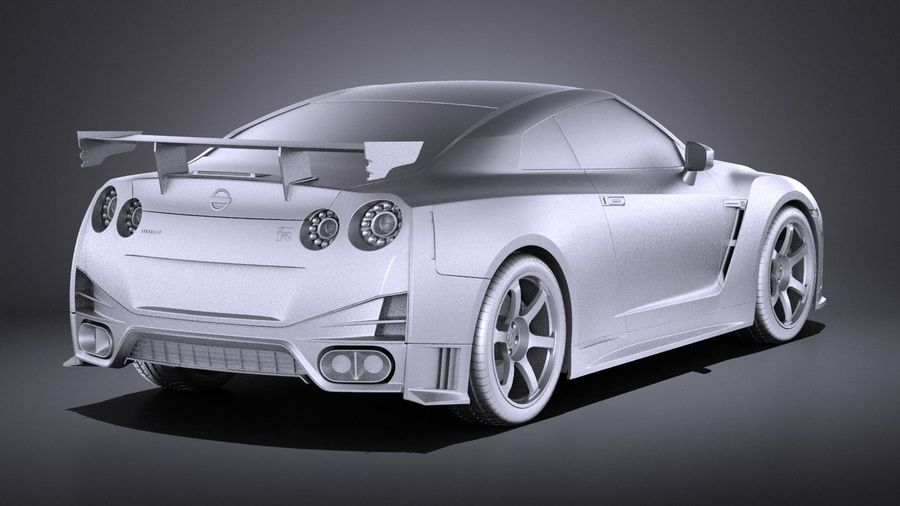Nissan GT-R Nismo 2015 VRAY royalty-free 3d model - Preview no. 12
