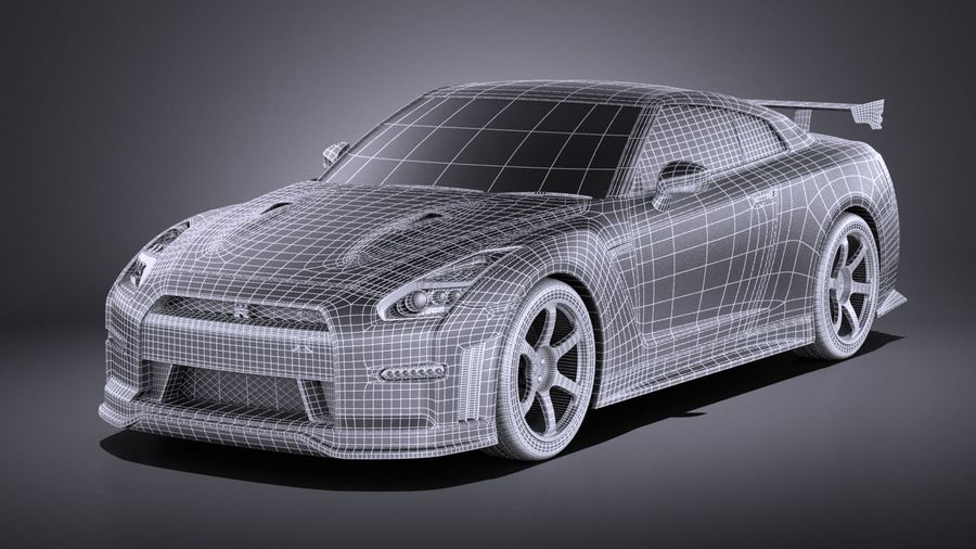 Nissan GT-R Nismo 2015 VRAY royalty-free 3d model - Preview no. 18