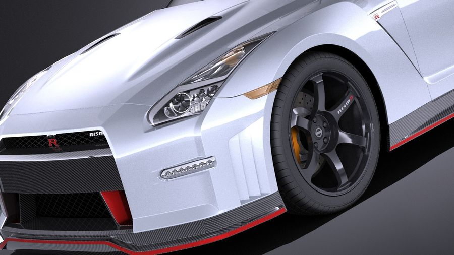 Nissan GT-R Nismo 2015 VRAY royalty-free 3d model - Preview no. 3