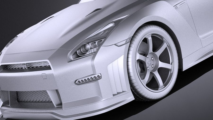 Nissan GT-R Nismo 2015 VRAY royalty-free 3d model - Preview no. 10