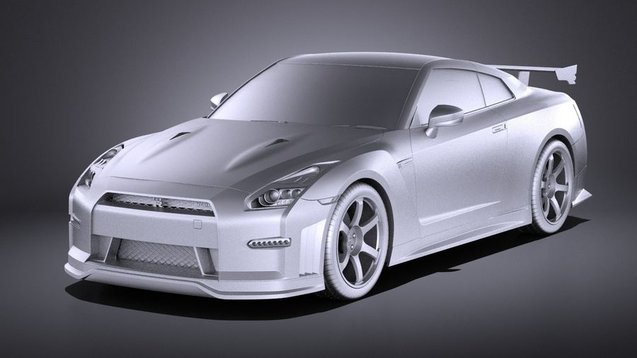 Nissan GT-R Nismo 2015 VRAY royalty-free 3d model - Preview no. 9
