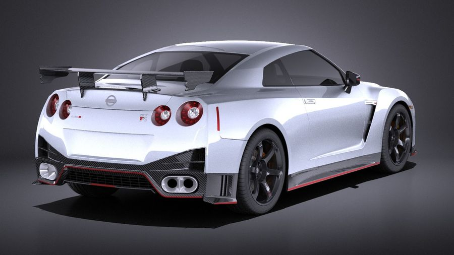 Nissan GT-R Nismo 2015 VRAY royalty-free 3d model - Preview no. 6
