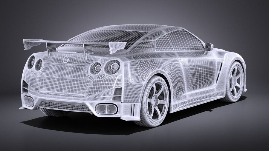 Nissan GT-R Nismo 2015 VRAY royalty-free 3d model - Preview no. 17