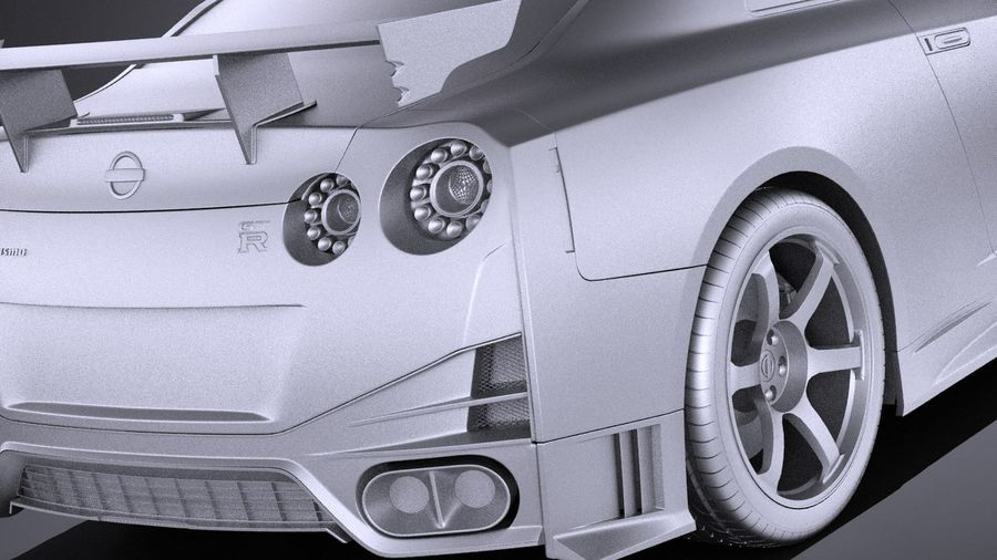 Nissan GT-R Nismo 2015 VRAY royalty-free 3d model - Preview no. 11