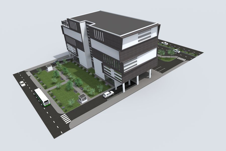 Shopping Mall royalty-free 3d model - Preview no. 5