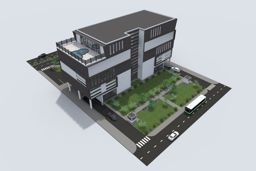 Shopping Mall royalty-free 3d model - Preview no. 4