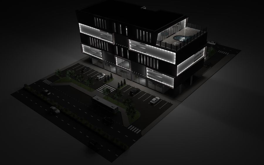 Shopping Mall royalty-free 3d model - Preview no. 2