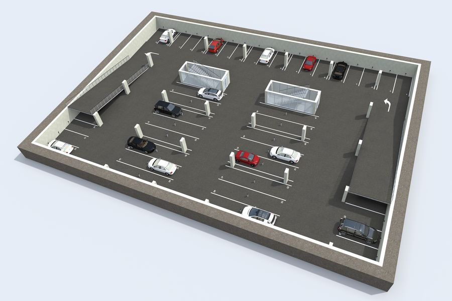 Shopping Mall royalty-free 3d model - Preview no. 18