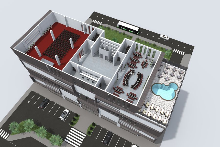 Shopping Mall royalty-free 3d model - Preview no. 15