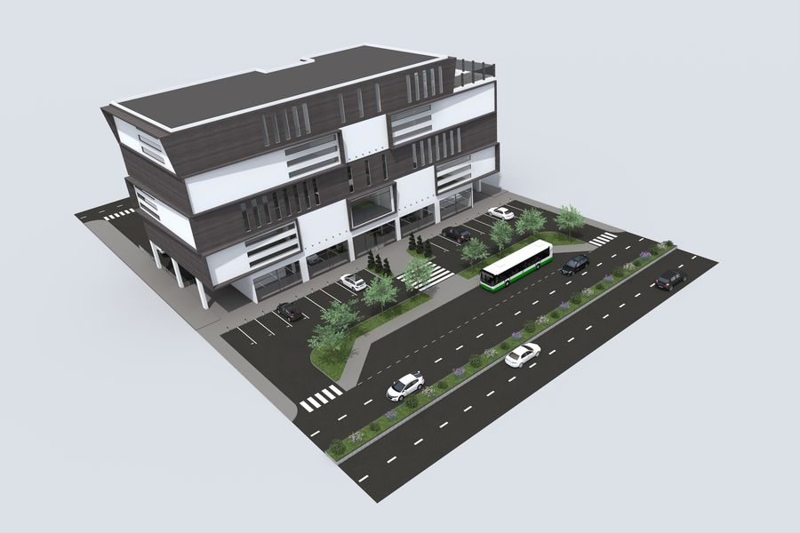 Shopping Mall royalty-free 3d model - Preview no. 3