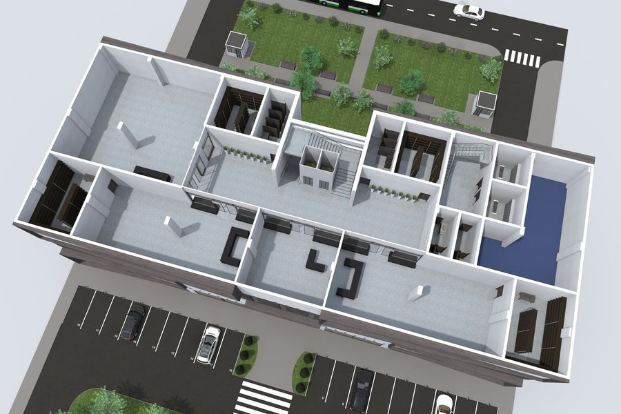 Shopping Mall royalty-free 3d model - Preview no. 12