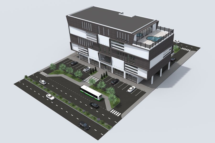 Shopping Mall royalty-free 3d model - Preview no. 1