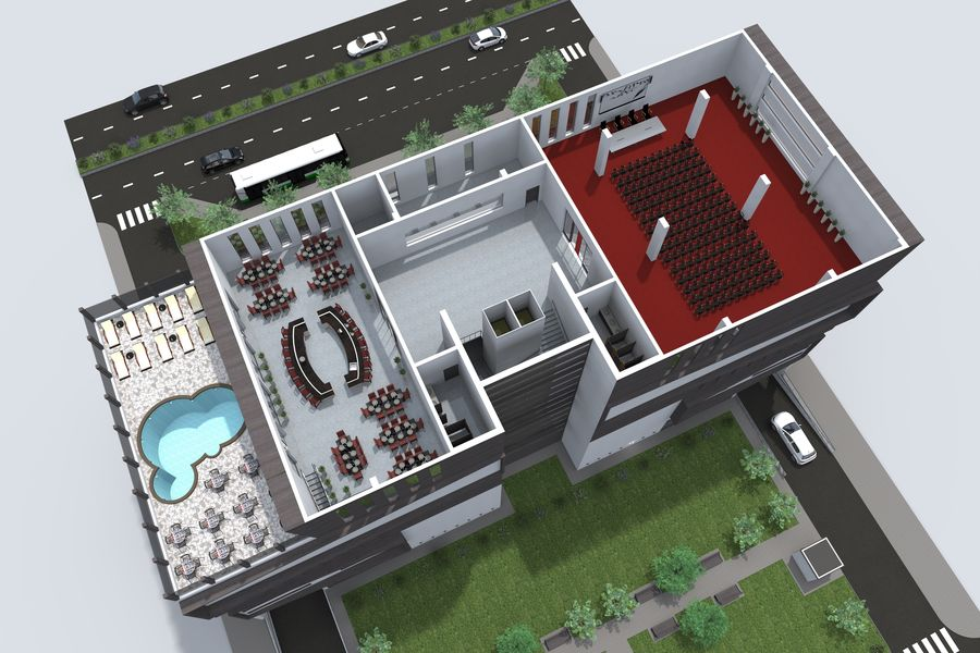 Shopping Mall royalty-free 3d model - Preview no. 14