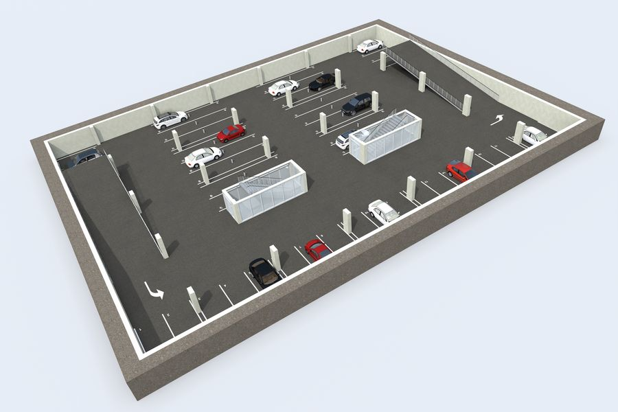 Shopping Mall royalty-free 3d model - Preview no. 17