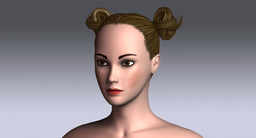 Hairstyle 7 3d Model 19 X Obj 3ds Free3d