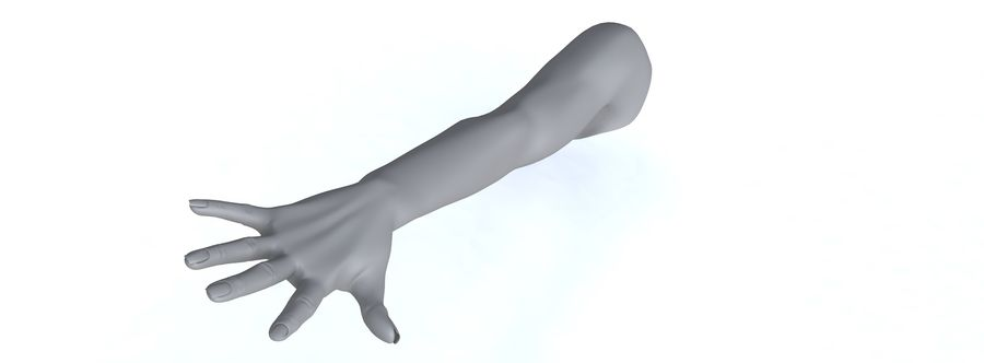 Arm right royalty-free 3d model - Preview no. 21