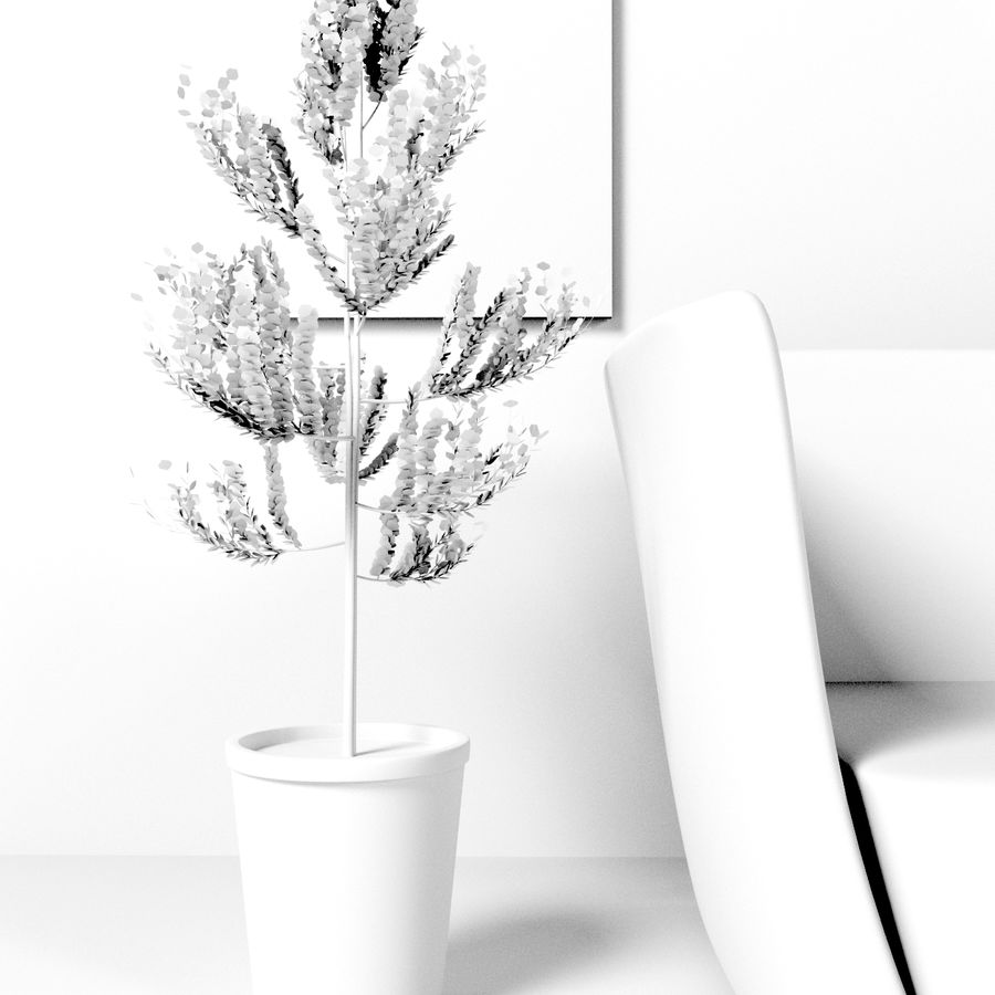 Petit arbre / plante avec pot royalty-free 3d model - Preview no. 5
