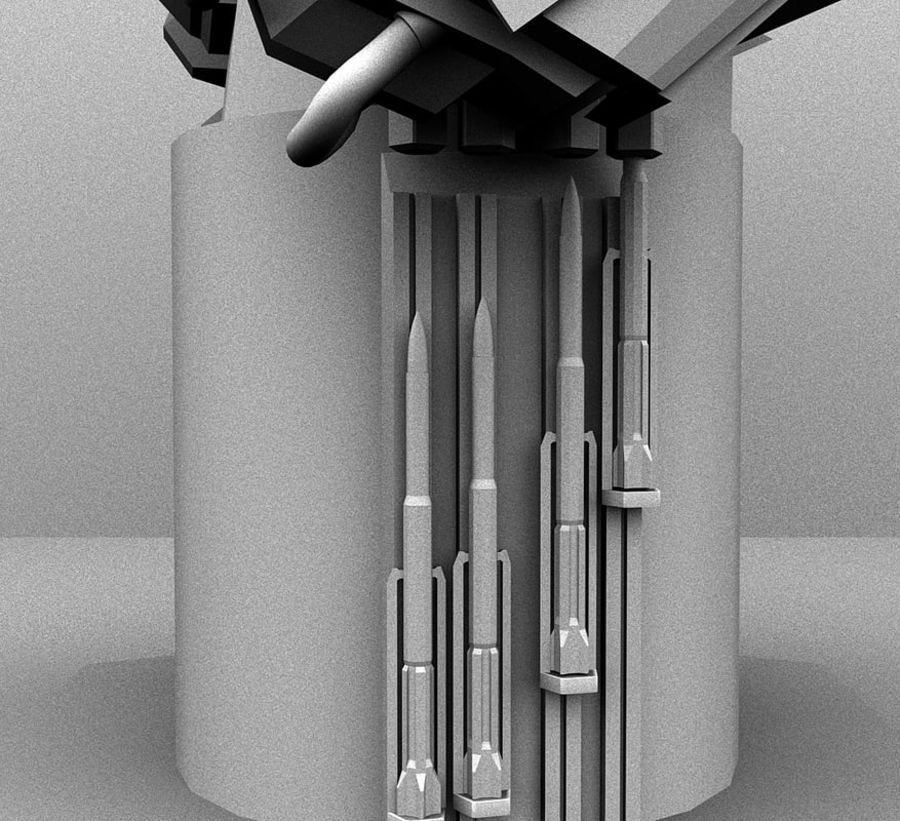 CIWS Turret royalty-free 3d model - Preview no. 4