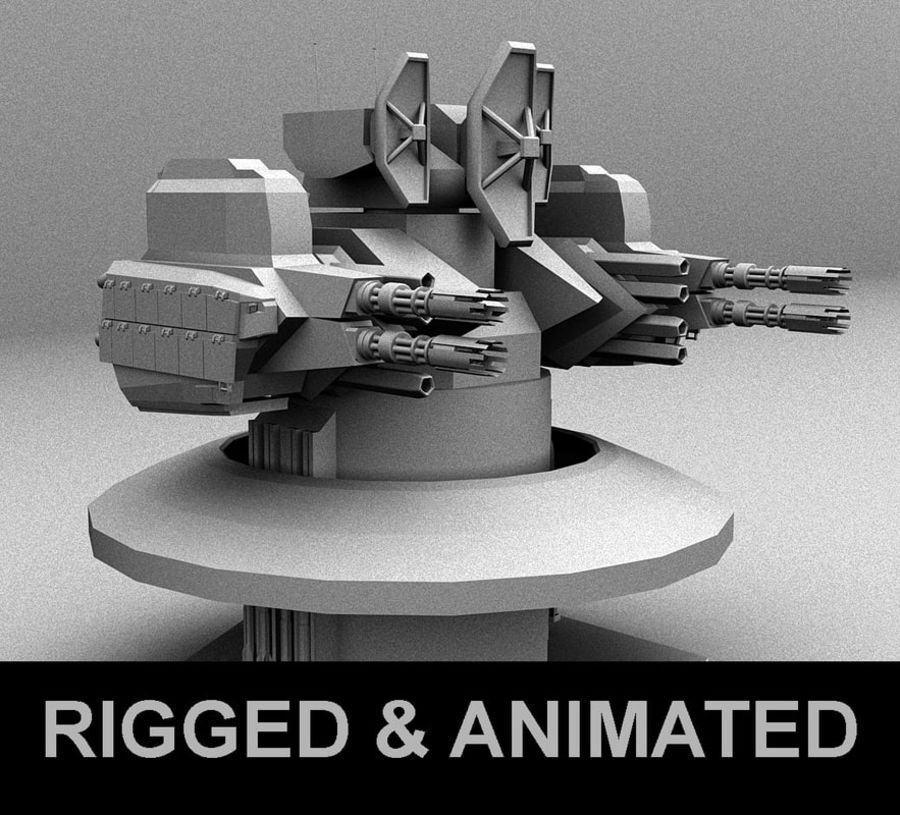 CIWS Turret royalty-free 3d model - Preview no. 1