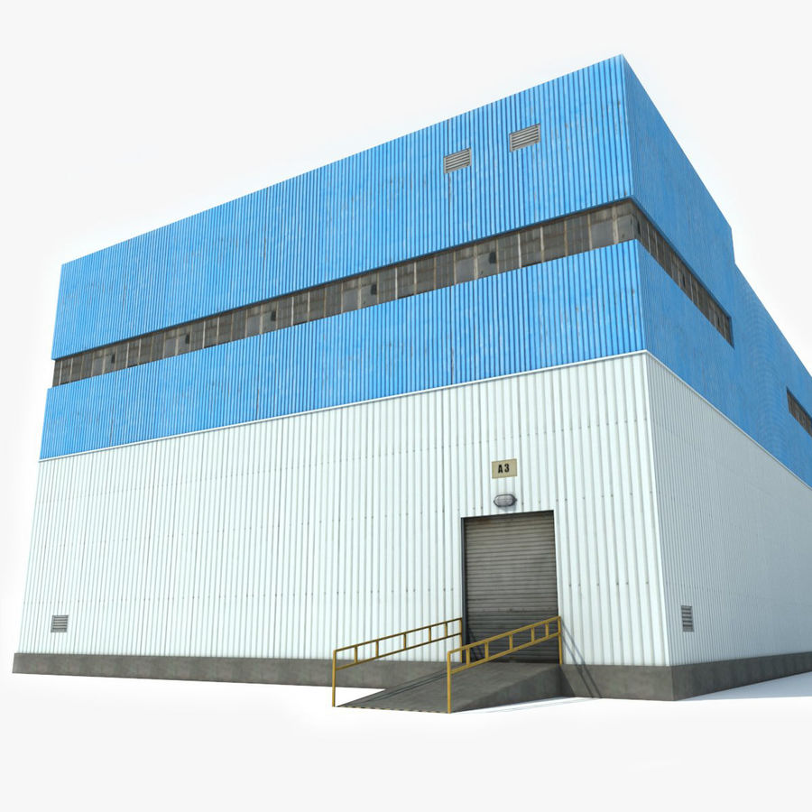 Warehouse 1 royalty-free 3d model - Preview no. 8