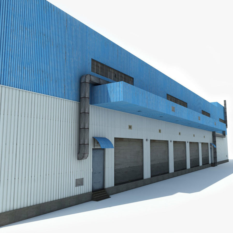 Warehouse 1 royalty-free 3d model - Preview no. 4