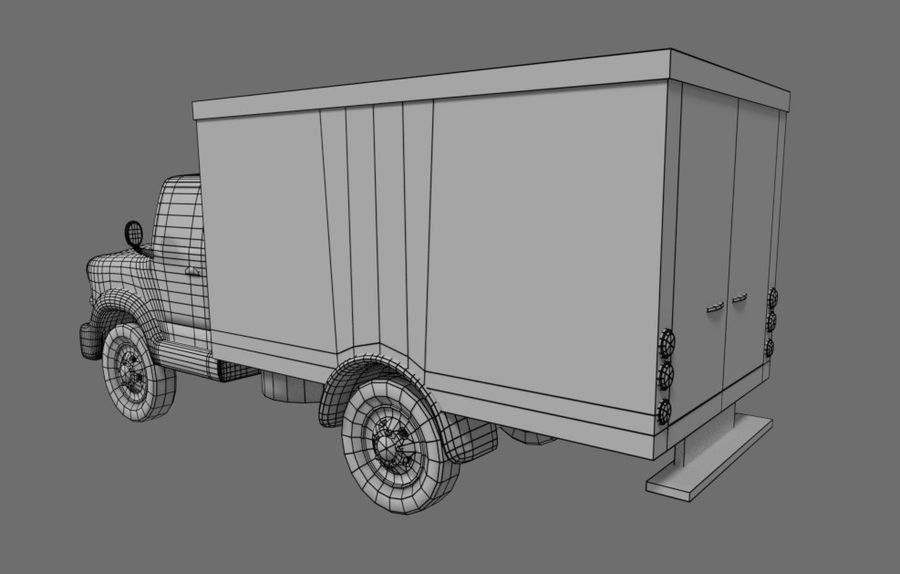 un camion royalty-free 3d model - Preview no. 5