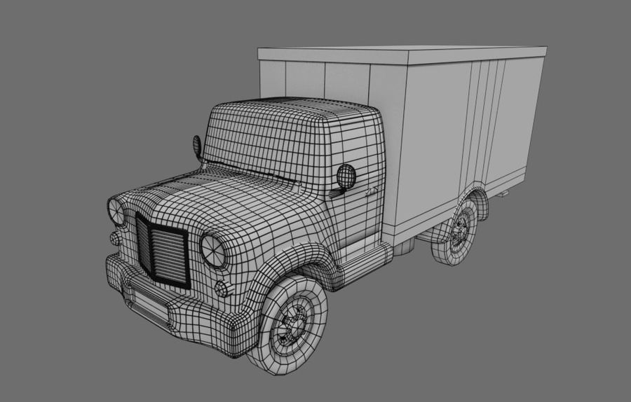 un camion royalty-free 3d model - Preview no. 6